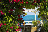 Restaurant on the beach — Stock Photo