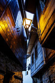 Narrow street in the lantern in Nessebar — Stock Photo