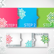 Royalty-Free Stock Vectorafbeeldingen: Vector winter progress steps / arrow stickers set