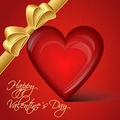 Vector coração vermelho - feliz dia dos namorados — Vetor de Stock
