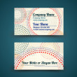 Vector vintage business card with dotted circles - front and back site — Stock Vector #19056891