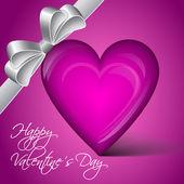 Vector lila heart - Happy Valentine's Day — Vector de stock