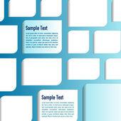 矢量蓝色背景与白皮书为您的文本 — 图库矢量图片