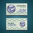 Vector business card with pin and wave background - front and back site — Stock Vector #19156059