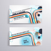 Vector business card with halftone rainbow — Stock Vector