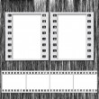 Stock Photo: Blank Film Frames and Blank Film Strip