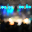 Out-of-focus shimmering background of a concert hall stage set — Stock Photo