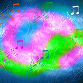 Abstract urban music background — Stock Photo