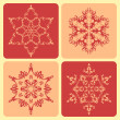 Set of pattern snowflakes. — Stock Vector #13378214