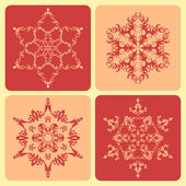 Set of pattern snowflakes. — Stock Vector