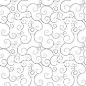 Seamless monochrome swirly patterns, vector background. — Stock Vector