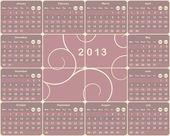 European calendar for 2013 year. — Stock Vector