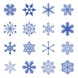 Vector set of simple snowflakes. — Stock Vector #15603633