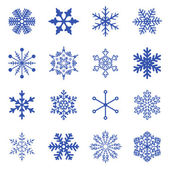 Vector set of simple snowflakes. — Stockvector