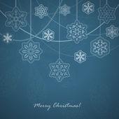 Beautiful Snowflakes card. — Stock Vector