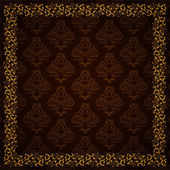 Damask pattern, vector background. — Stock Vector