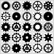 Set of vector gear wheels for desing. — 图库矢量图片
