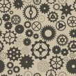 Seamless background with different gear wheels. — Imagen vectorial