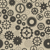 Seamless background with different gear wheels. — Vettoriale Stock
