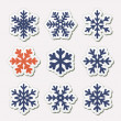 Simple snowflakes. — Stock Vector #32491271