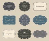 Set of vintage labels. — Stock Vector