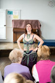 Bellydancer giving a demonstration — Stock Photo