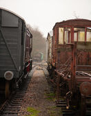 Old train carriages — Stock Photo