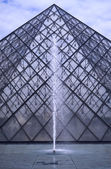 Pyramid at the Louvre, Paris — Stock Photo
