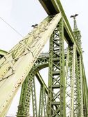 Iron Bridge over Danube, Budapest, Hungary — Stock Photo