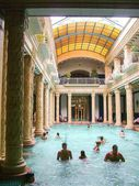 Hotel Gellert (Gyogyszallo) Swimming Pool Baths, Budapest, Hungary — Stock Photo