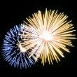 Stock Photo: Fireworks gold and blue