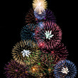 Stock Photo: Tree fireworks