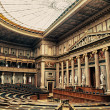 Debating Chamber of the former House of Deputies of Austria - Stock Photo