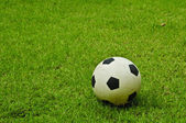 Soccer ball on lawn — Stock Photo