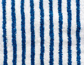 Blue and white striped towel — Stock Photo