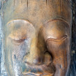 A face sculpted from tree bark — Stock Photo #16045125
