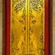 A door at marble temple — Stock Photo