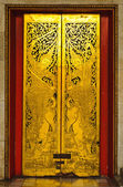 A door at marble temple — Foto Stock