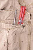 Trousers pocket with a tool — Stock fotografie