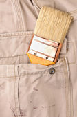 Trousers pocket with a tool — Stock Photo