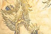 Dragon drawing — Stock Photo