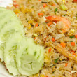 Crab meat and shrimp fried rice — Stockfoto
