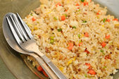 Crab meat fried rice — Stock Photo