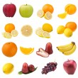 Collection of fruits — 图库照片