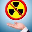 Conceptual image, caring for radioactive usage. — Stock Photo