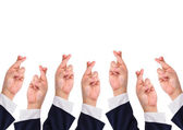 Conceptual image, finger crossed hand sign — Stock Photo