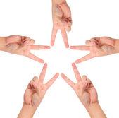 Handen maken stervorm — Stockfoto