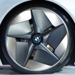 Wheel of the BMW Vision EfficientDynamics vehicle - Stock Photo