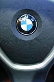 Steering wheel of BMW — Stock Photo