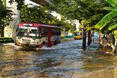 Severe flood in Bangkok, Thailand — Stock fotografie